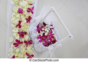 flowers., boda