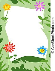 Flowers Border - funky flowers frame