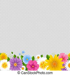 Flowers Border Transparent Background