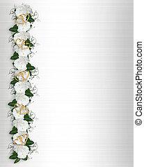 Flowers Border white Periwinkle - Image and Illustration...