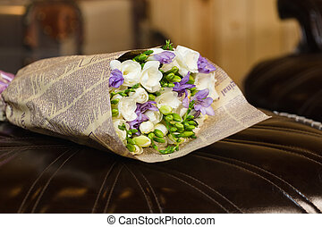Flowers bouquet of freesia