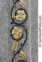 flowers decoration - decoration of pillar pattern over ...