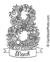 Flowers design vector illustration for calendar
