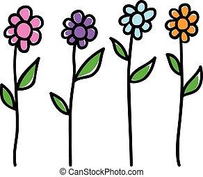 Flowers - Doodle illustration of flowers