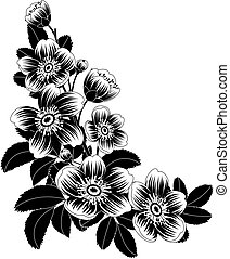 flowers - Vector illustration - Flowers corner