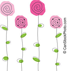 Flowers - Pretty simple pink roses flowers