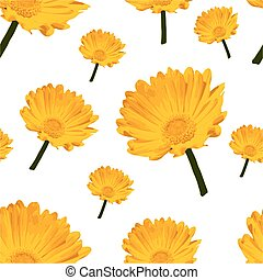 Flowers Elegance Seamless pattern. Abstract Repeating seamless vector floral background
