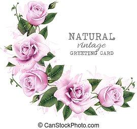 flowers., feiertag, hintergrund, schoenheit, vector.