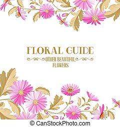 flowers., fleur, fond, violet