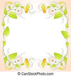 Flowers Frame of bindweed. Vector illustration.