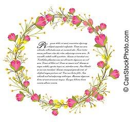 Flowers Garland Design Vector
