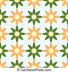 flowers geometric pattern