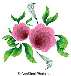 flowers., háttér, rózsaszínű