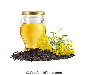 flowers., huile, rapeseed, graines