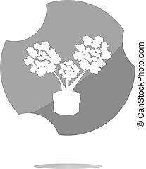 flowers icon button app web . Trendy flat style sign isolated on white background