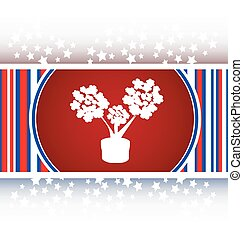 flowers icon button app web vector