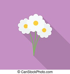 Flowers icon. Flat style