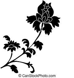flowers., ilustração, vetorial
