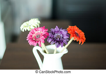Flowers in a vase on the table