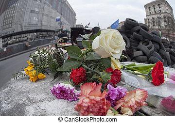 Flowers in honer of heroes