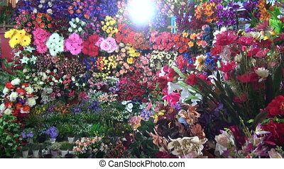 flowers in Mumbai street market