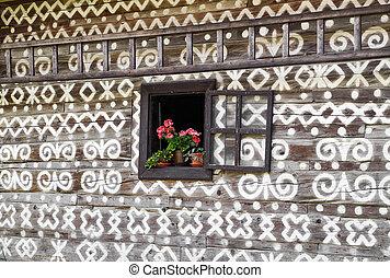 Flowers in open windows