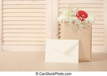 Flowers in paper bag