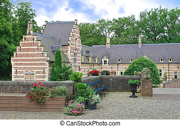 Flowers in the castle Heeswijk. Netherlands