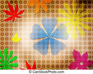 Flowers & Leafs - background