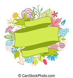 flowers., lente, achtergrond