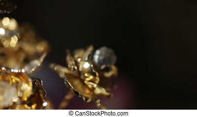 Flowers made of stone - Female handmade bracelet rotates on...
