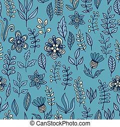 flowers., modèle, seamless, floral