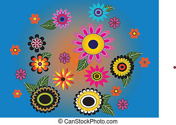 Flowers multicolored