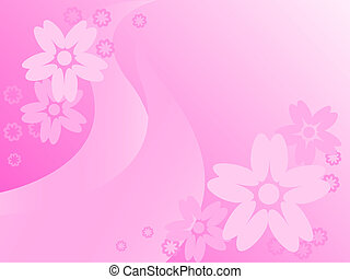 flowers on a pink abstract backgrou