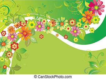 Flowers on a wave
