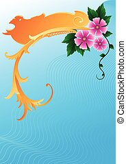 flowers on abstraction background