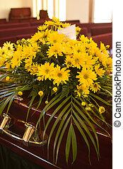 Flowers on Casket