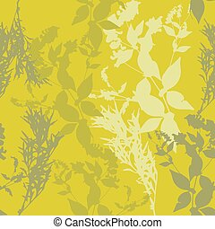 flowers on green background. Seamless pattern. Vector