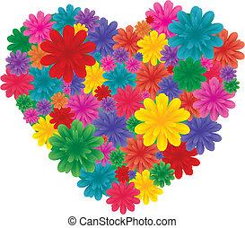 Flowers on heart