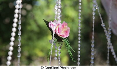 Flowers on wedding ceremony,video full HD