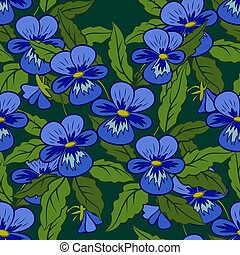Flowers Pansies Seamless - Seamless Background, Flowers...