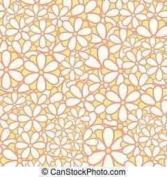 Flowers Pattern Background Vector Illustration