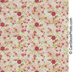 flowers pattern paper grunge vintage background