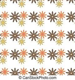 flowers pattern retro seamless