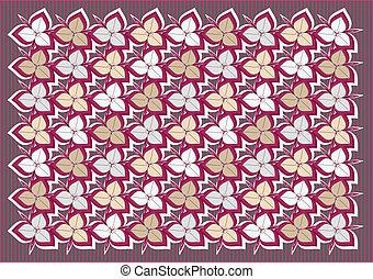 Flowers pattern - Ornamental pattern with stylized flowers