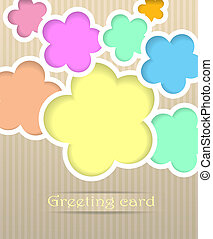 Flowers postcard vector illustration