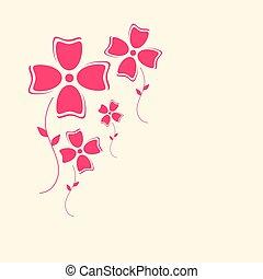 Flowers Retro Flat Design Background
