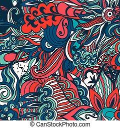 Flowers seamless pattern background. Vector illustration