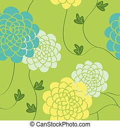 Flowers seamless pattern. Bright colors elements