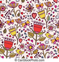 flowers., seamless, tekstur